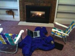 Beach chairs & laptop