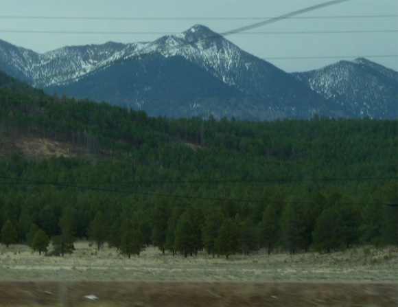 Snowy mountains in western AZ