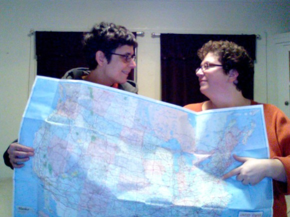 K & L with map