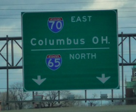 Columbus Highway sign