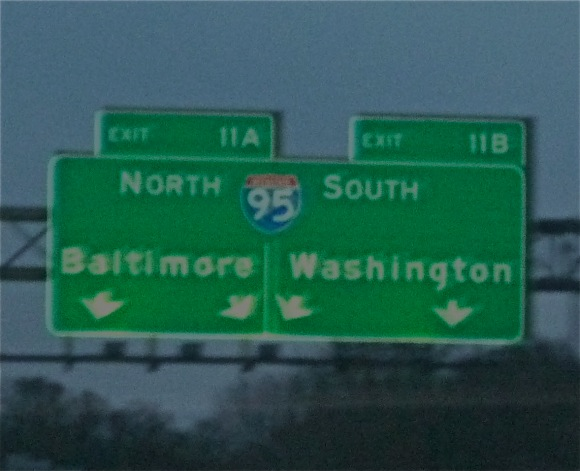 Baltimore Hwy sign